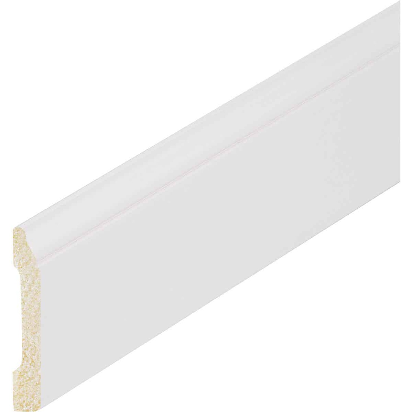 Inteplast Building Products 3/8 In. W. x 3-3/16 In. H. x 8 Ft. L. Crystal White Polystyrene Colonial Base Molding Image 2