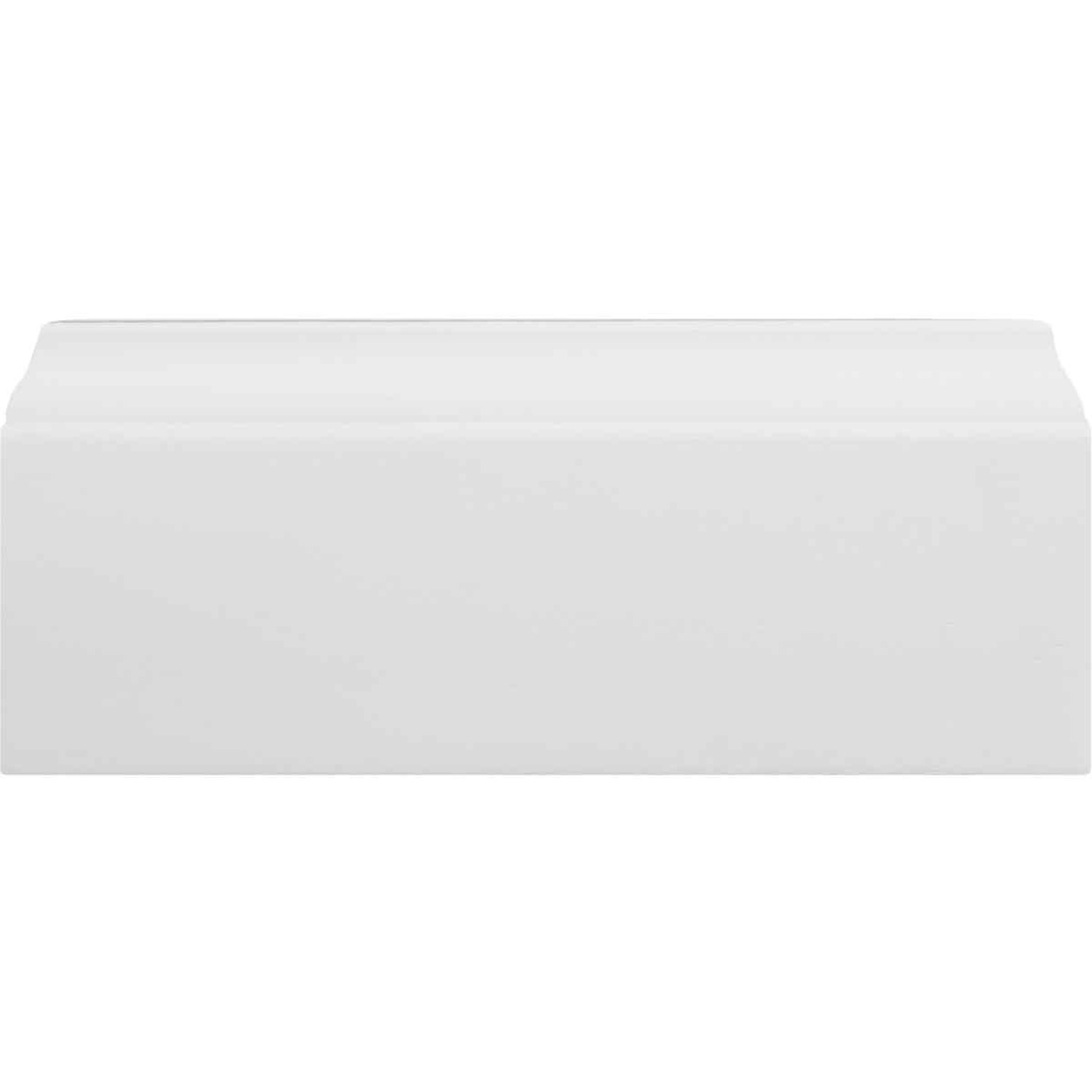 Inteplast Building Products 3/8 In. W. x 3-3/16 In. H. x 8 Ft. L. Crystal White Polystyrene Colonial Base Molding Image 3