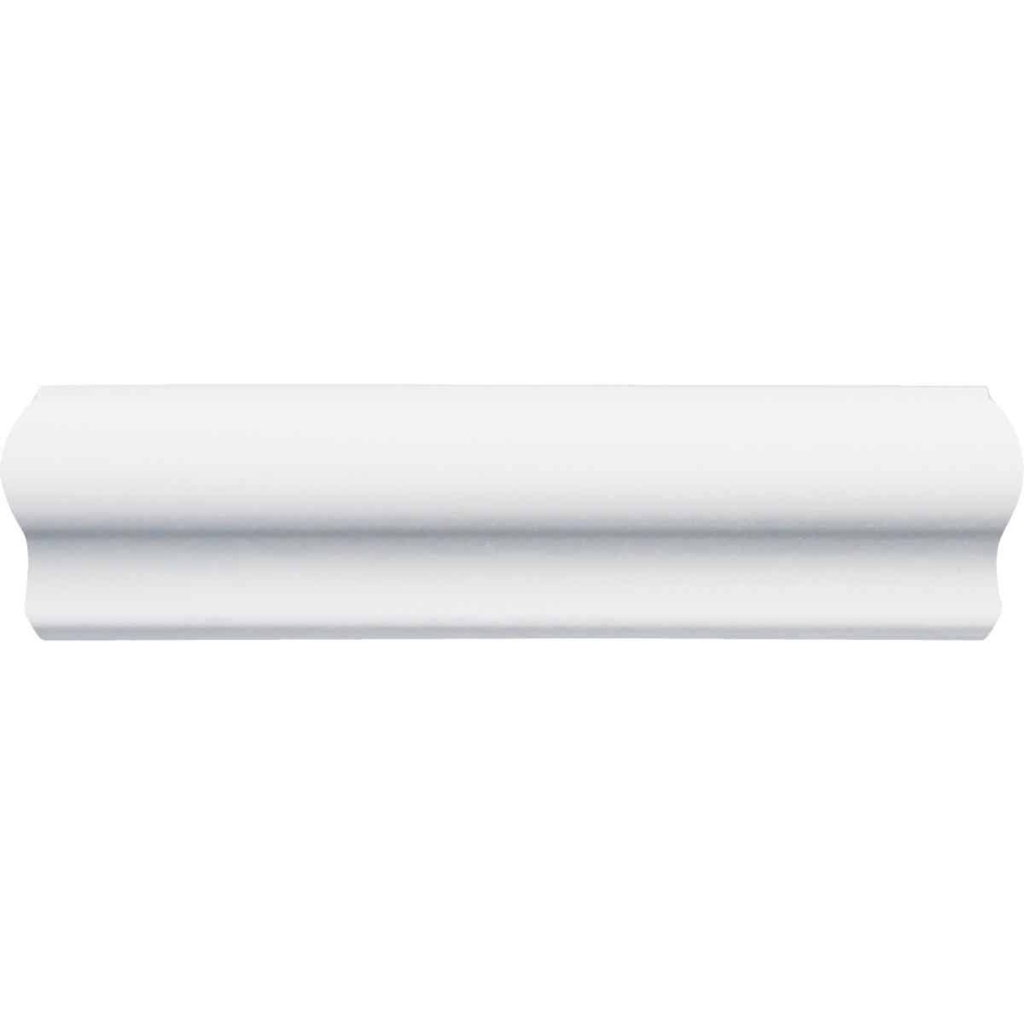 Inteplast Building Products 7/16 In. x 1-3/16 In. x 8 Ft. Crystal White Polystyrene Base Molding Cap Image 3