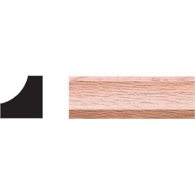House of Fara 3/4 In. x 3/4 In. 8 Ft. Solid Red Oak Cove Molding