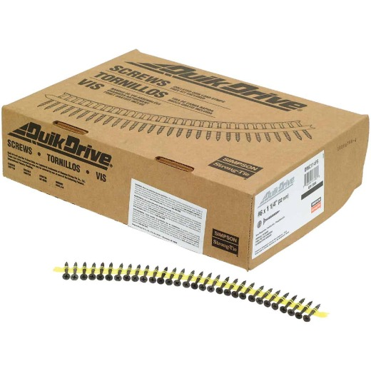 Quik Drive #6 x 1-1/4 In. Phillips Bugle Head Collated Drywall Screw, Phospate Finish (2500 Ct.)