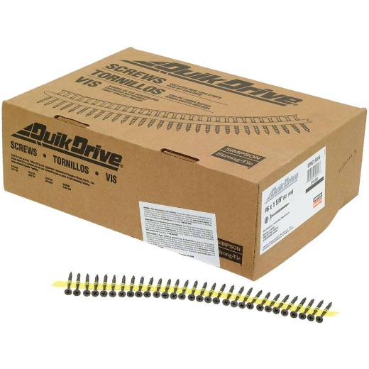 Quik Drive #6 x 1-5/8 In. Phillips Bugle Head Collated Drywall Screw, Phospate Finish (2500 Ct.)