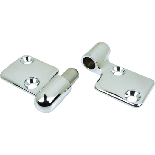 Seachoice 3-5/16 In. x 2-1/2 In. Chrome-Plated Cast Brass Motor Box Hinge