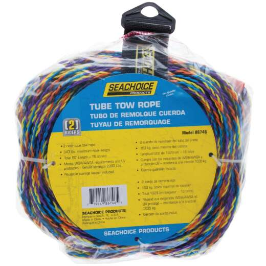 Seachoice 60 Ft. Tube Tow Rope, 1 to 2 Rider (340 Lb.)